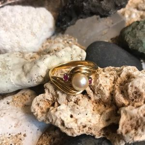 Pearl and Pink Ring